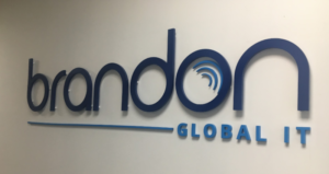 brandon global it logo sign