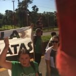 protestors-iguazu-falls
